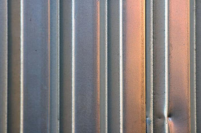 a picture called Metal door sunset should be here...